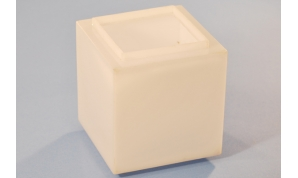 Fabricated Smooth White Bollard