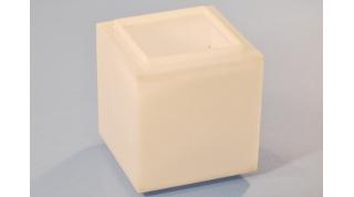 Fabricated Smooth White Bollard