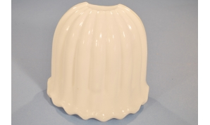 Smooth White Acrylic Scalloped Sconce